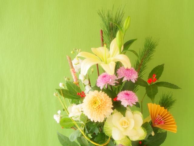 正月花のセンリョウ